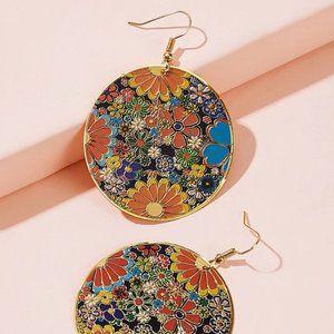 Groovy Floral Drop Earrings